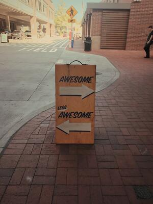 awesome less awesome sign